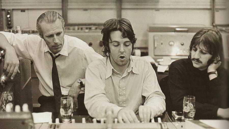 George Martin beatles Paul McCartney Ringo Starr