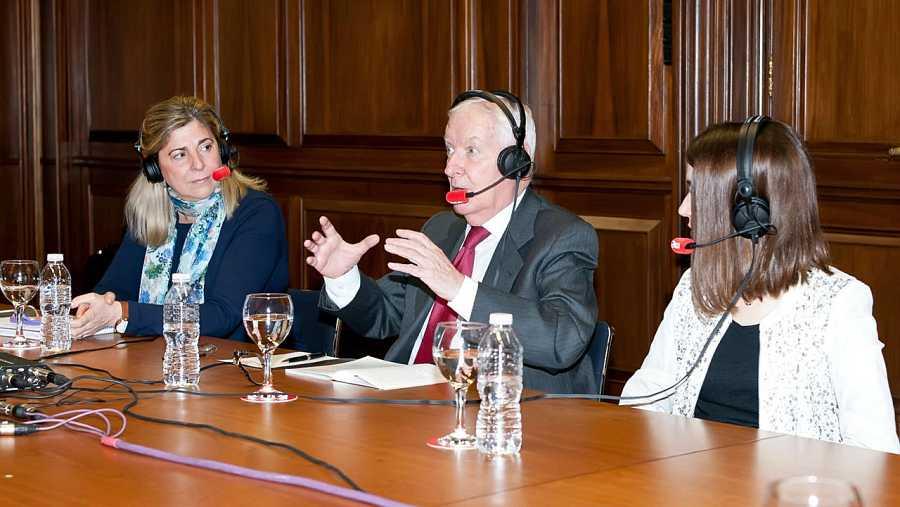 Beatriz Herranz, Víctor García de la Concha y Elena Muñoz