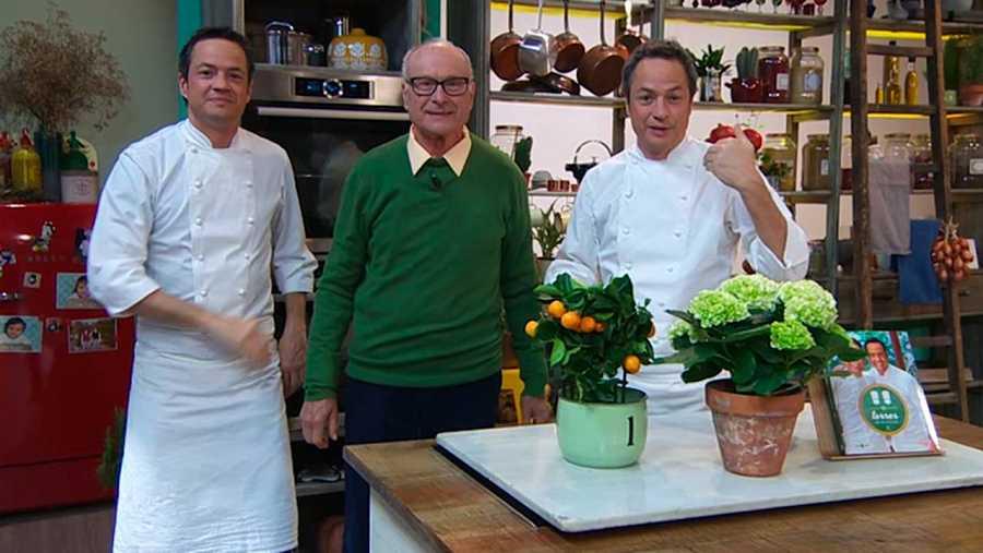 Los hermanos Torres celebran el Día del padre cocinando con el suyo, con Josep Torres.