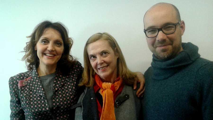 María Fernández Ache, Juanma Romero Gárriz y Paloma Pedrero