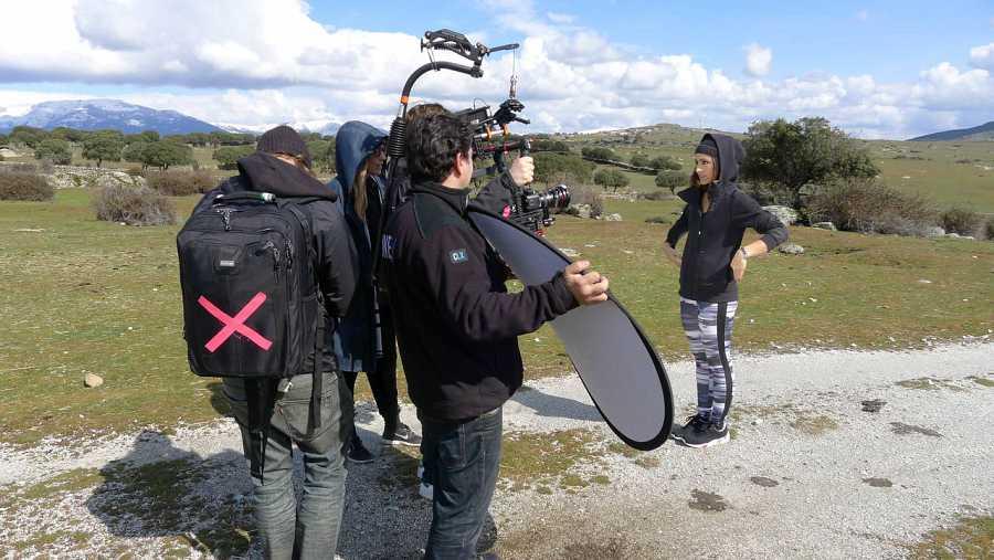 Barei, rodando en entornos naturales de Madrid