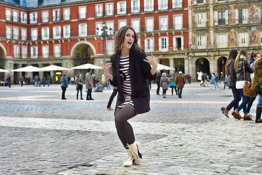 Barei reina en la Plaza Mayor de Madrid