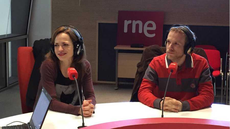 Lidia Navarro y Fernando Ramallo en un momento de la entrevista.