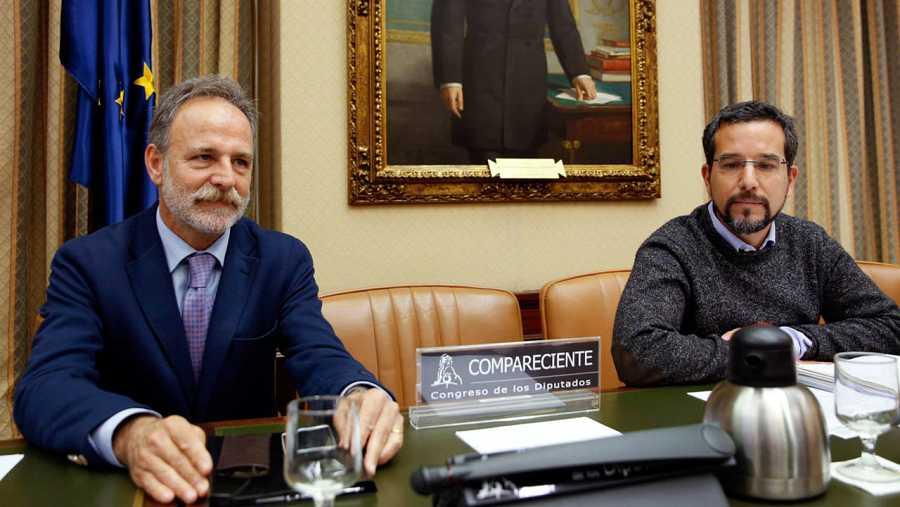 La silla vacía en la Comisión de Fomento del Congreso que debía ocupar la ministra en funciones, Ana Pastor.