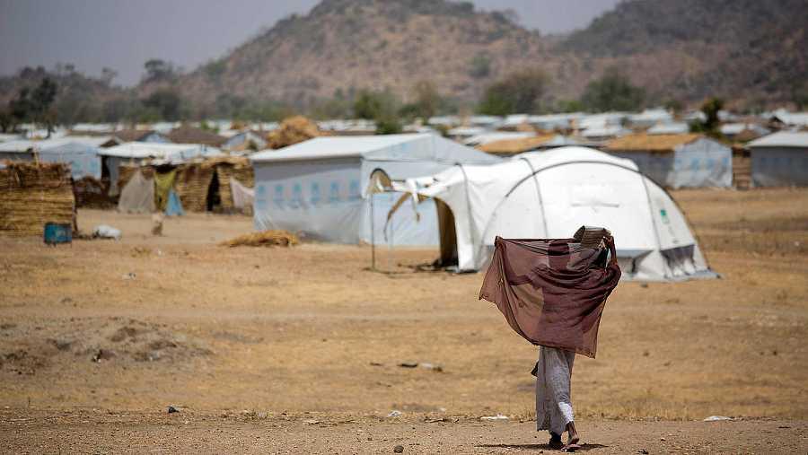 Refugiados de Nigeria en el campo de Minawao, en Camerún. AFP PHOTO / UNICEF / KAREL PRINSLOO