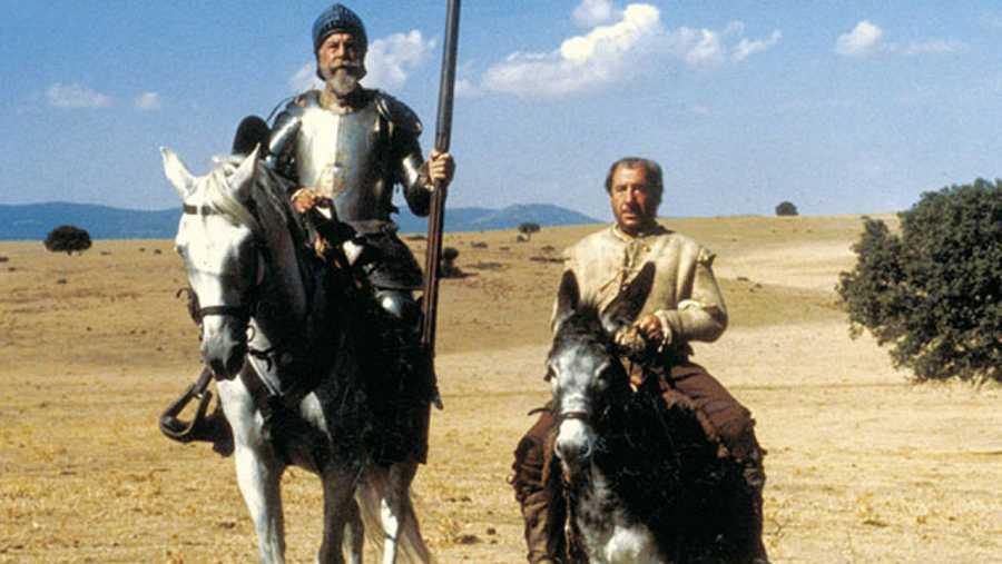 Imagen de la serie de TVE 'El Quijote', protagonizada por Fernando Rey y Alfredo Landa.