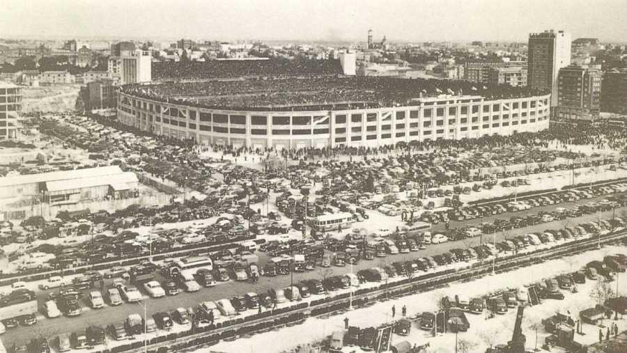 Imagen del Santiago Bernabéu en los años 60