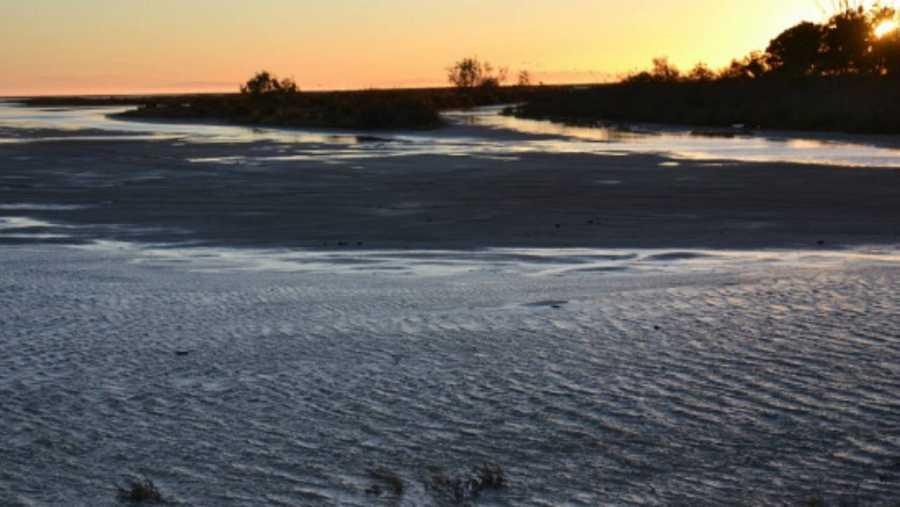 Atardecer en el delta del Ebro