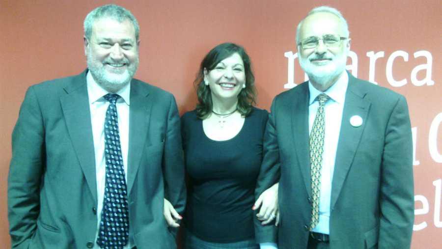 Miguel Ángel Martínez de la Riva, Laura Prieto y Julio Eisman