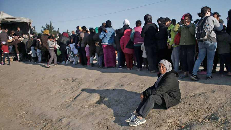 Campo de refugiados en Idomeni, en Grecia