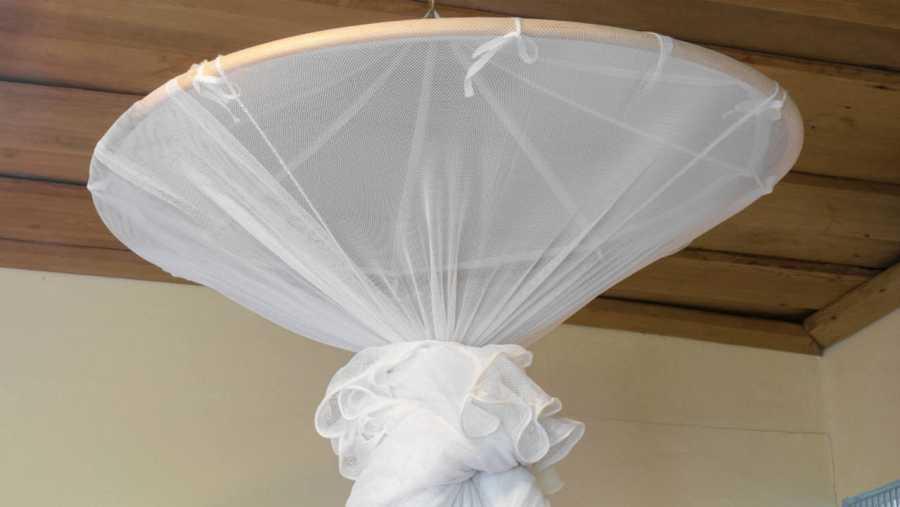 Una mosquitera, uno de los métodos para prevenir el paludismo