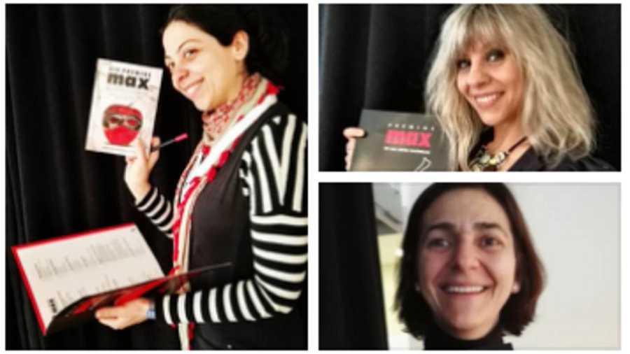 Paloma Cortina, Machús Osinaga y Ana Zurita