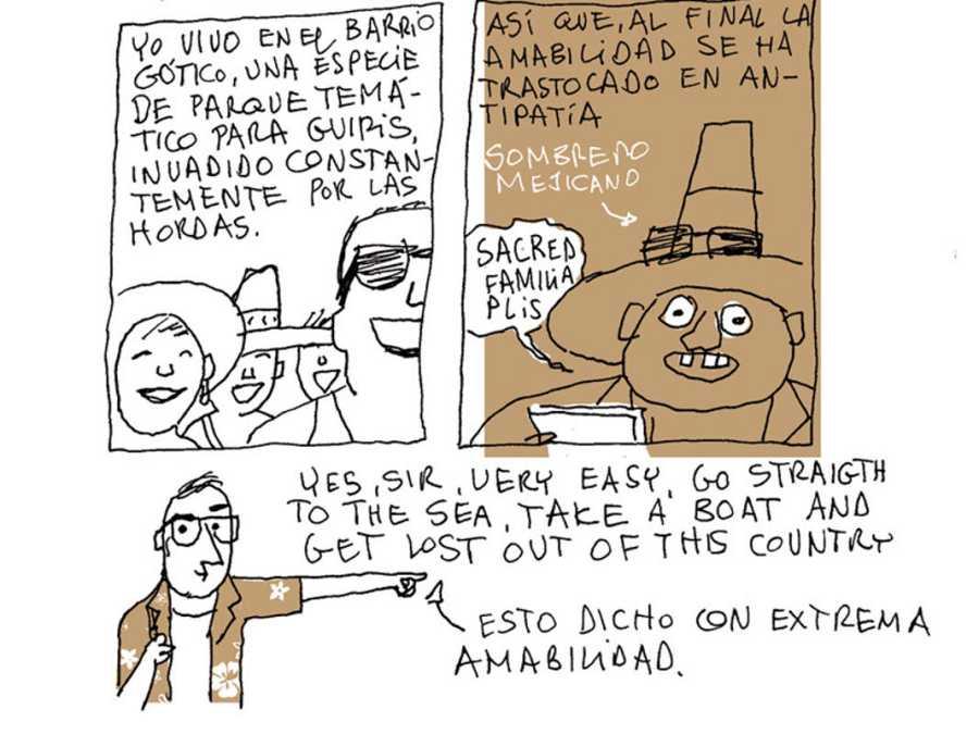 Viñetas de 'Turista accidental'