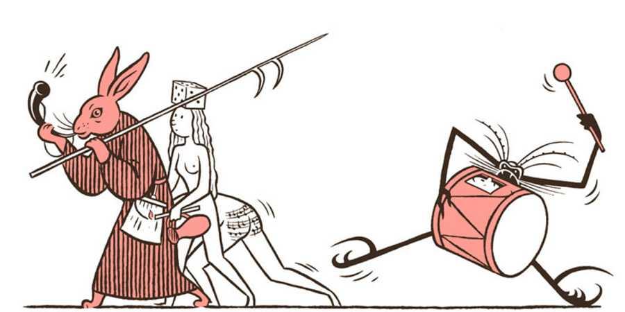 Viñeta de 'El tríptico de los encantados (Una pantomima bosquiana)'