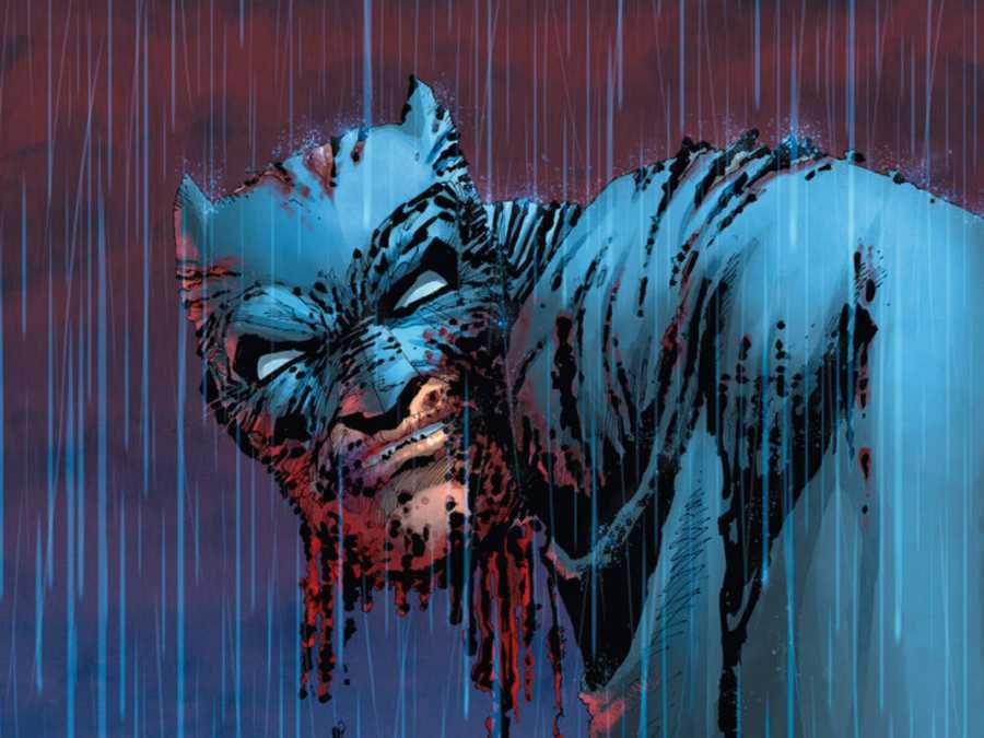 Ilustración de Frank Miller para 'El Caballero Oscuro III: La raza superior'