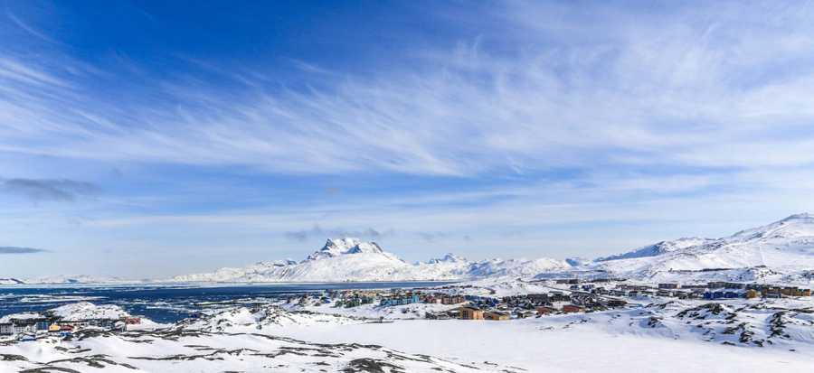 Una panorámica de Nuuk, capital de Groenlandia