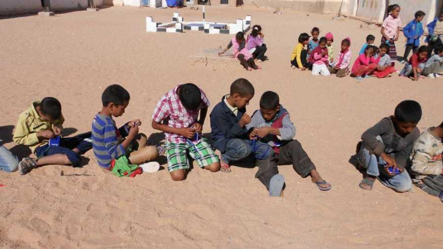 Niños, en uno de los campamentos del Sáhara