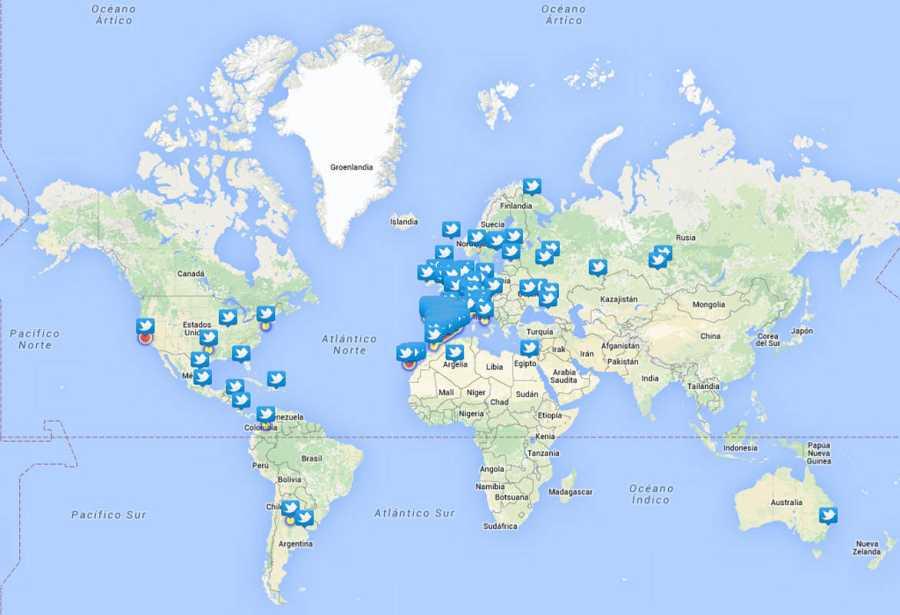 Tuits relevantes con el hashtag #EurovsiónTVE en el mapa
