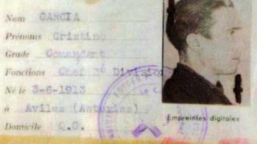 Carnet de identidad de Cristino García Granda