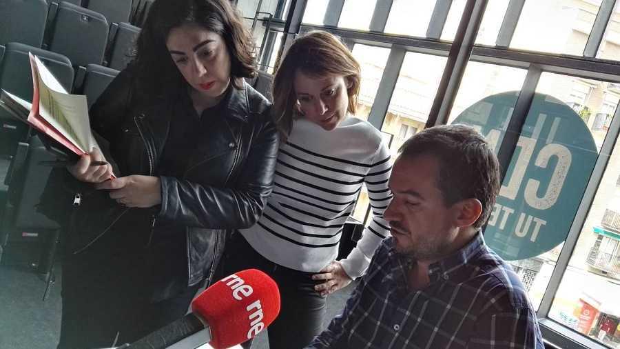 Con Inés Enciso y Sandra Fernández