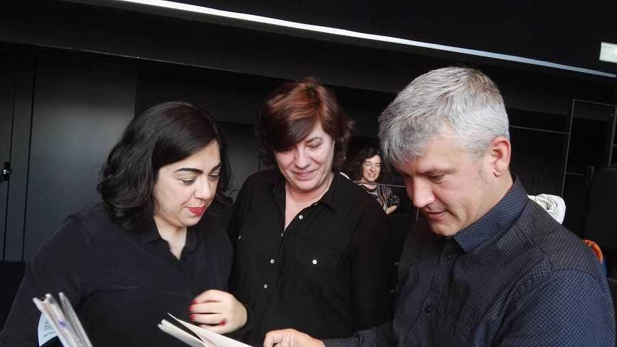 Pepa Rebollo, Miguel Cuerdo y Sandra Fernández