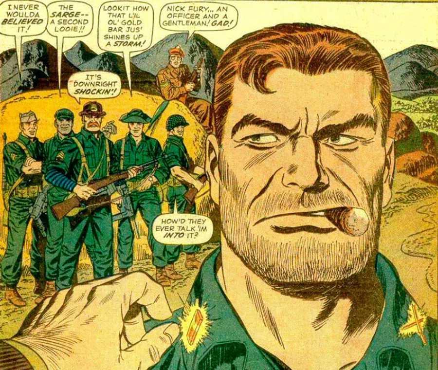 Viñeta de 'Sargento Furia y sus comandos aulladores'