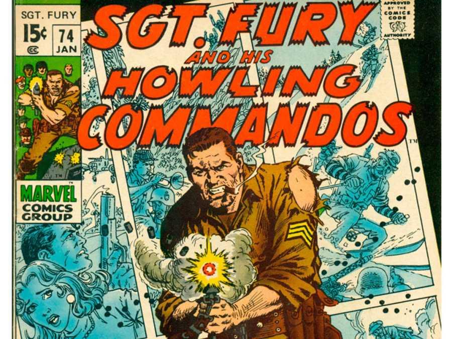 Fragmento de una portada de 'Sargento Furia y sus comandos aulladores'