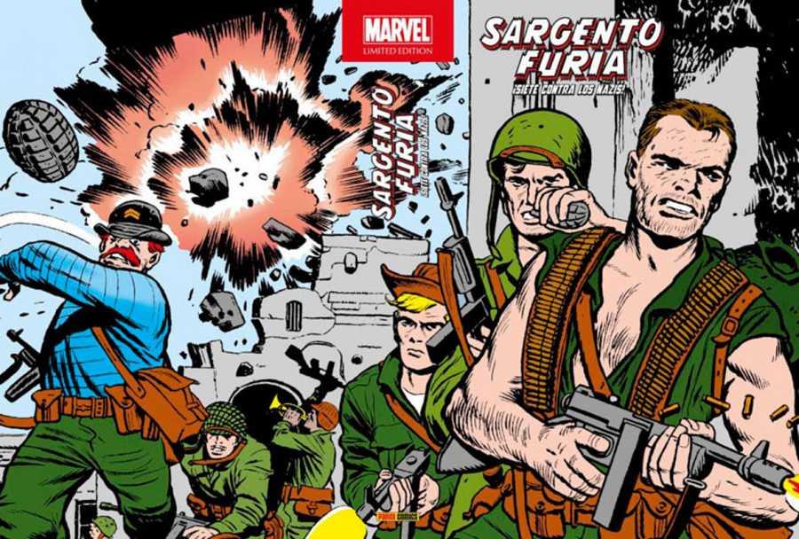 Portada de 'Marvel Limited Edition: Sargento Furia: ¡Siete contra los nazis!'