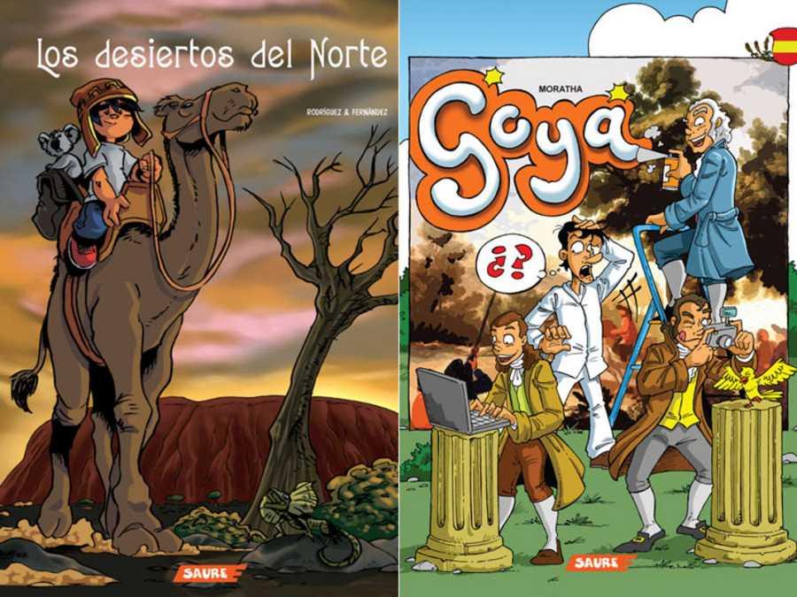 Dos de los cómics digitales incluídos en los packs de Postalector