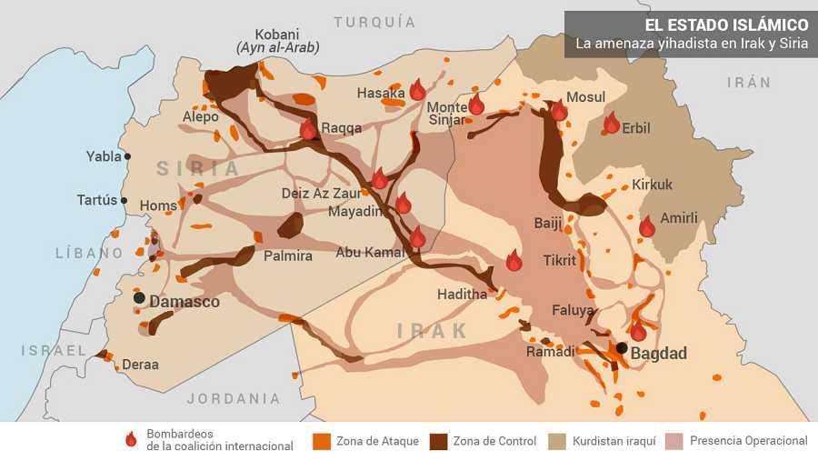 (Fuente: Instituto para el Estudio de la Guerra. Actualizado a 22 de abril de 2016).