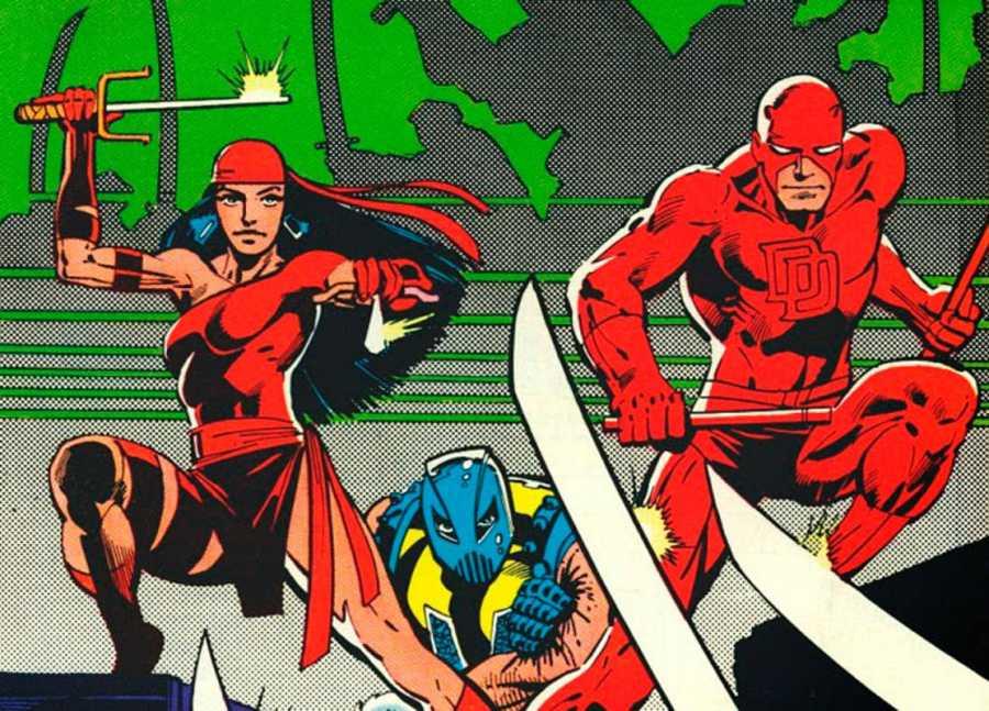 Daredevil, Elektra y El Gladiador contra La Mano