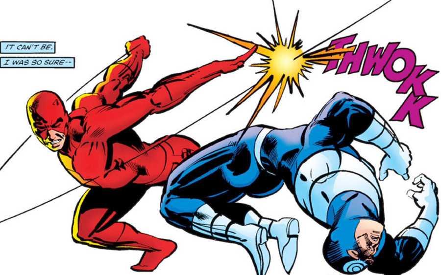 Daredevil y Bullseye en acción
