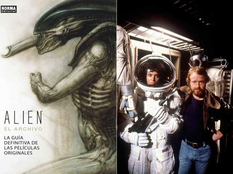 Portada y fotografía de 'Alien: el archivo' (Alien TM & © Twentieth Century Fox Film Corporation