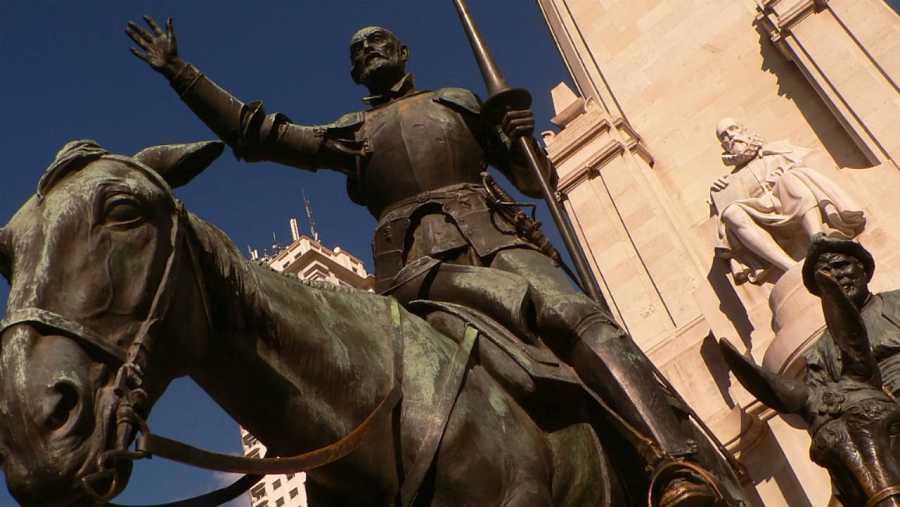 Esculturas de don Quijote y Sancho Panza