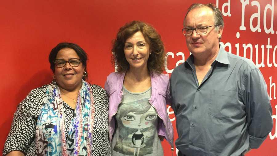 Con el director y protagonista real de 'Fátima'