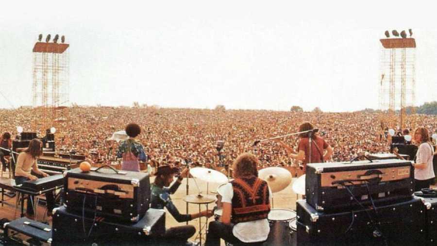 Medio millón de personas acudieron a Woodstock en 1969