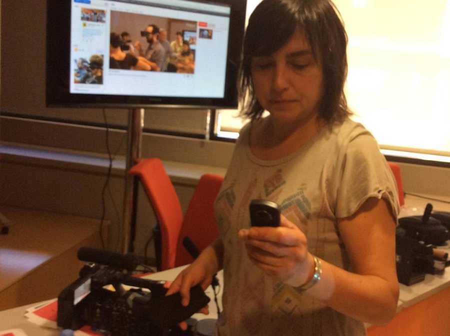 Sara Boldú, cámara de TVE