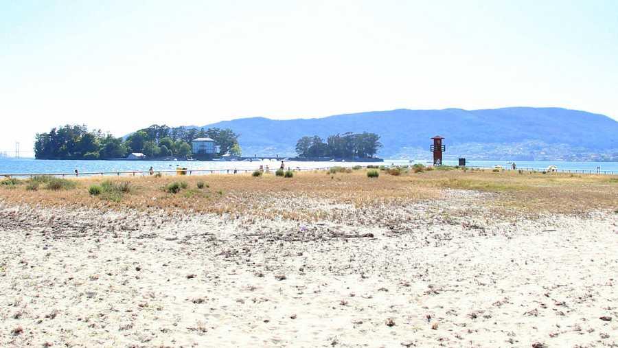 A Punta, una de las playas con Bandera Azul, ubicada en Redondela (Pontevedra)
