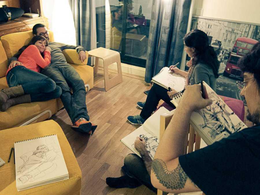Sesión de Dibujo a domicilio