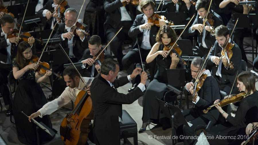El maestro Miguel Ángel Gómez Martínez en el concierto del pasado 19 de Junio del Festival Internacional de Granada