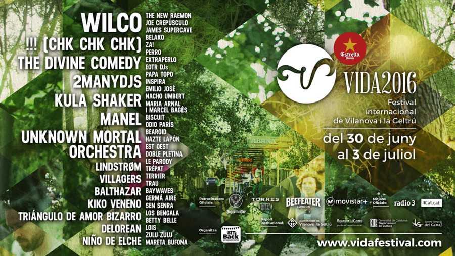Cartel completo del Vida Festival 2016