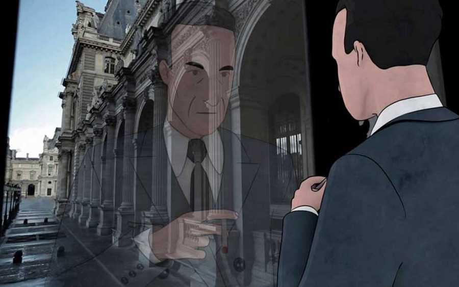 Un momento de la recreación de Jacques Jaujard en animación