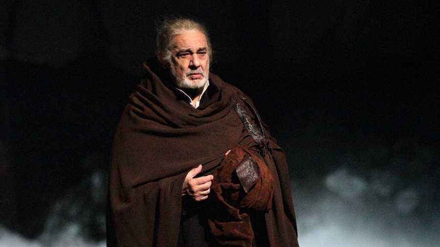 El tenor Plácido Domingo como Francesco Foscari