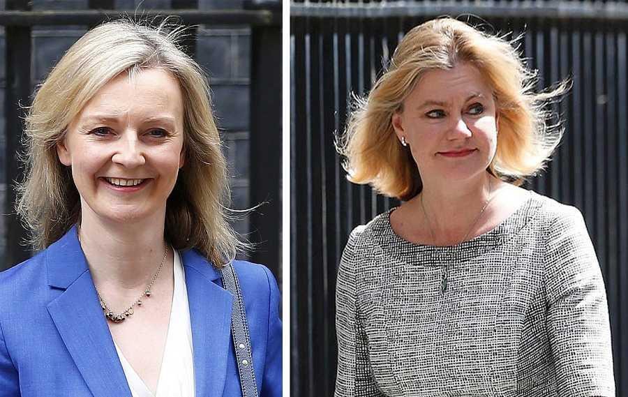 A la izquierda, Liz Truss, nueva ministra de Justicia (foto: Reuters/Neil Hall); a la derecha, Justine Greening, nueva titular de Educación del Gobierno (Reuters//Paul Hackett) británico.