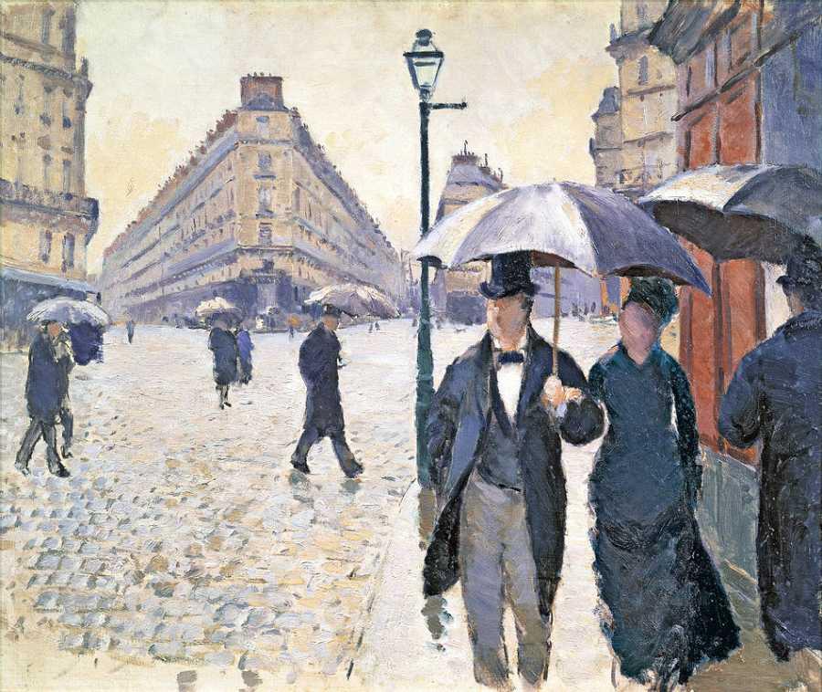 'Boceto para Calle de París, tiempo lluvioso'. 1877. Gustave Caillebotte.Musée Marmottan Monet, París.