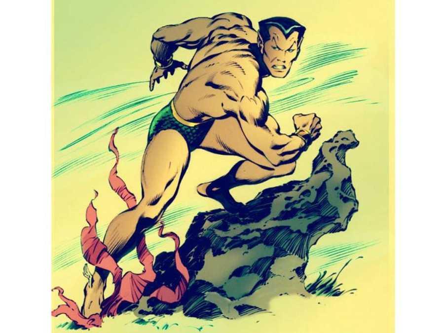 Imagen mítica de Namor por John Buscema