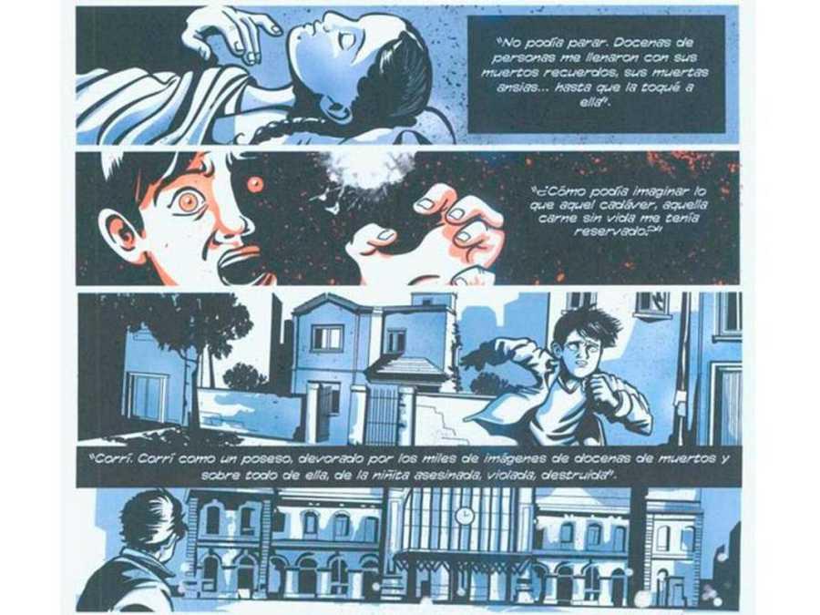 Viñetas de 'Lector de cadáveres', de Abraham García y José Pérez Zarzoso