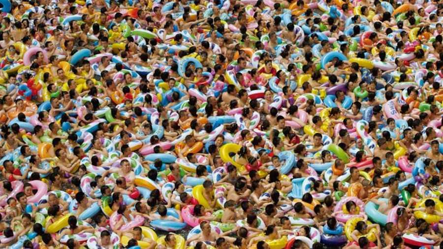 Piscina en Chengdu, en la provincia de Sichuan, en China