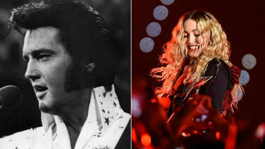 Elvis Presley y Madonna