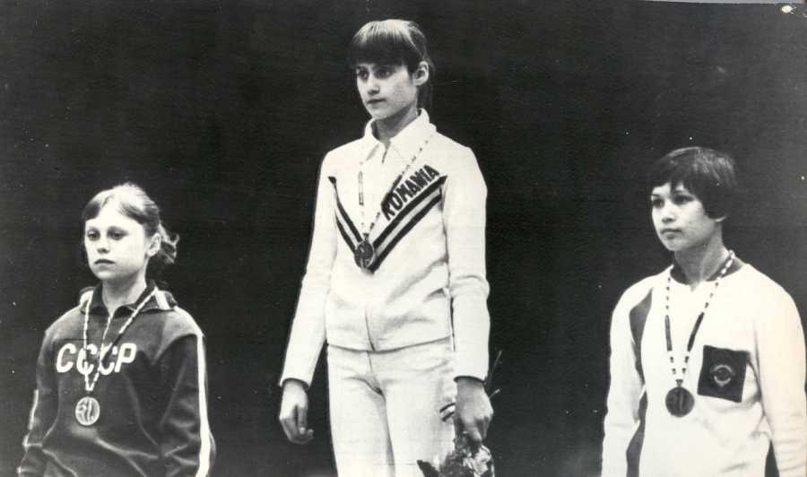 Nadia Comaneci en los Juegos Olímpicos de Montreal de 1976